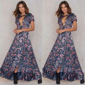 Free People Flora maxi Dress x For Love & Lemons